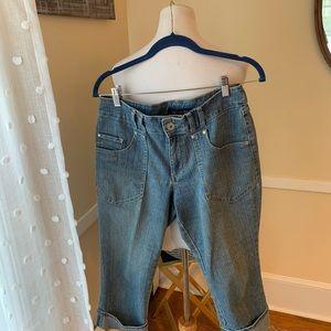 Jean star Cuffed Denim Capri Jeans Size6 EUC